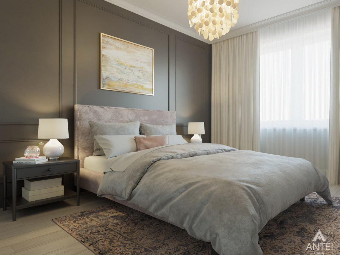 Дизайн интерьера трехкомнатной квартиры в Гомеле, ул. Свиридова - спальня фото №1
