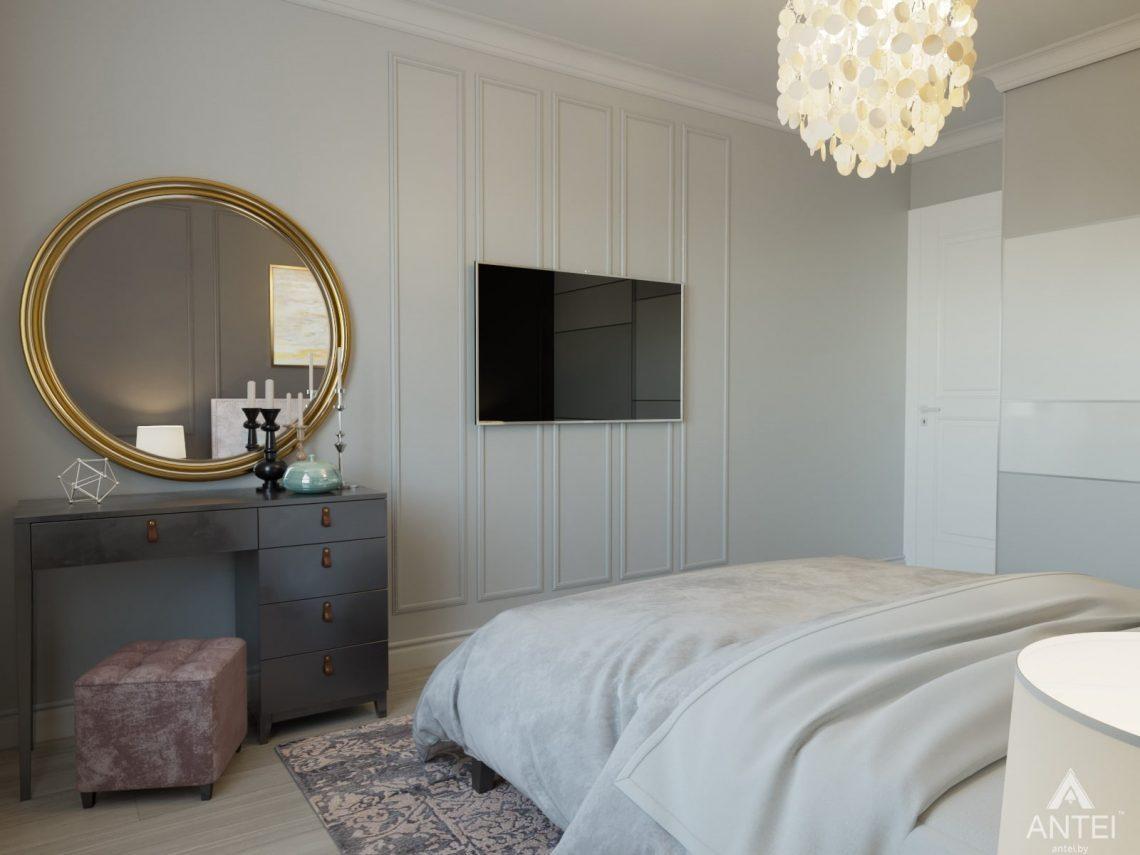 Дизайн интерьера трехкомнатной квартиры в Гомеле, ул. Свиридова - спальня фото №5