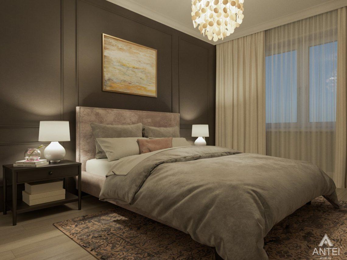 Дизайн интерьера трехкомнатной квартиры в Гомеле, ул. Свиридова - спальня фото №2