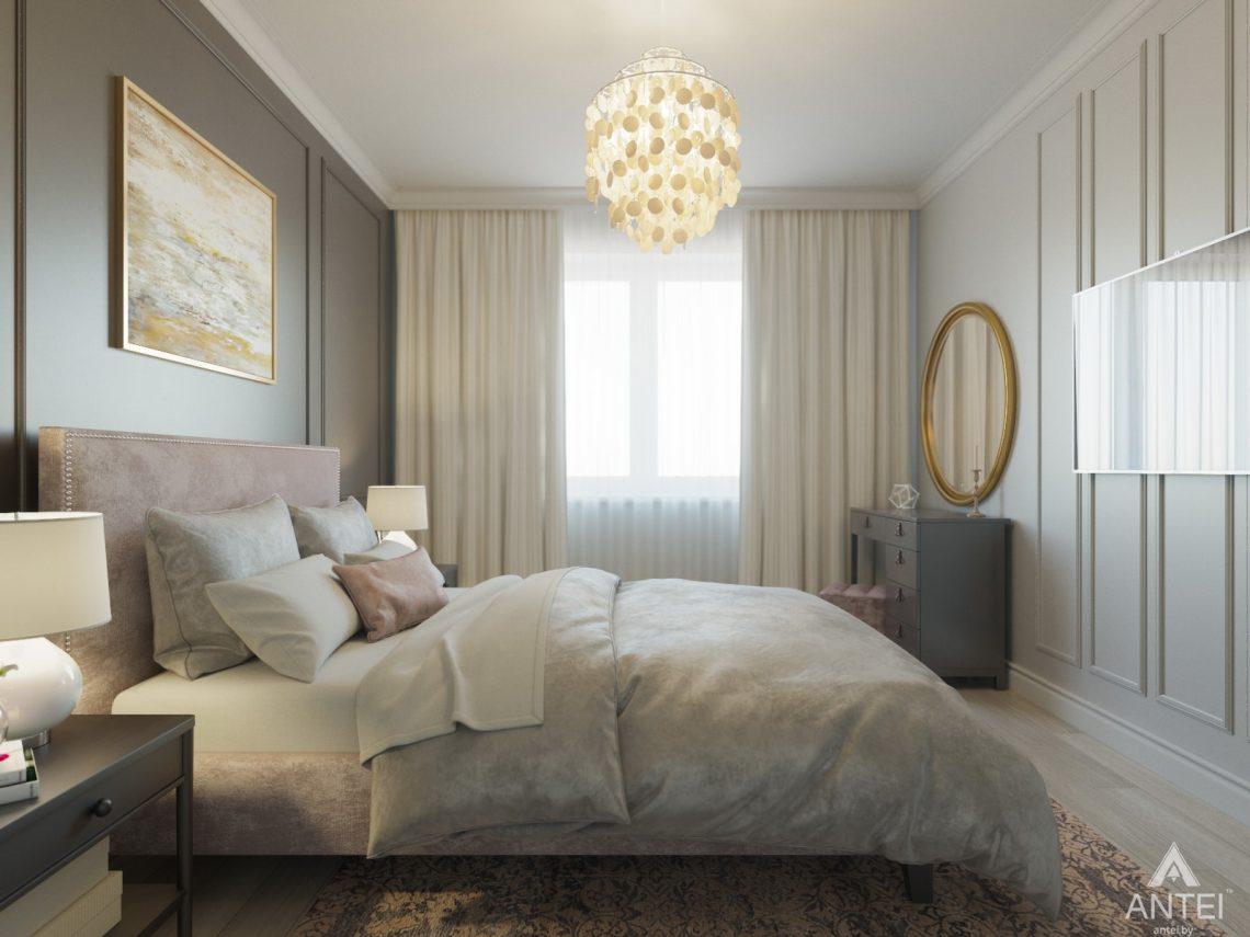 Дизайн интерьера трехкомнатной квартиры в Гомеле, ул. Свиридова - спальня фото №3