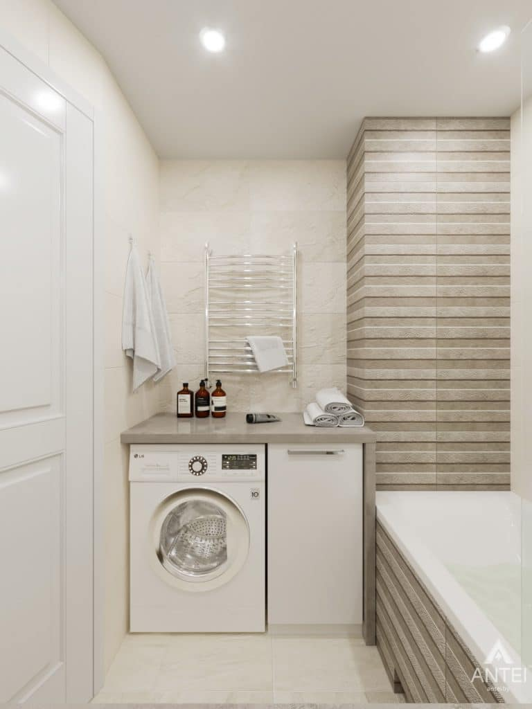 Дизайн интерьера трехкомнатной квартиры в Гомеле, ул. Свиридова - санузел фото №3