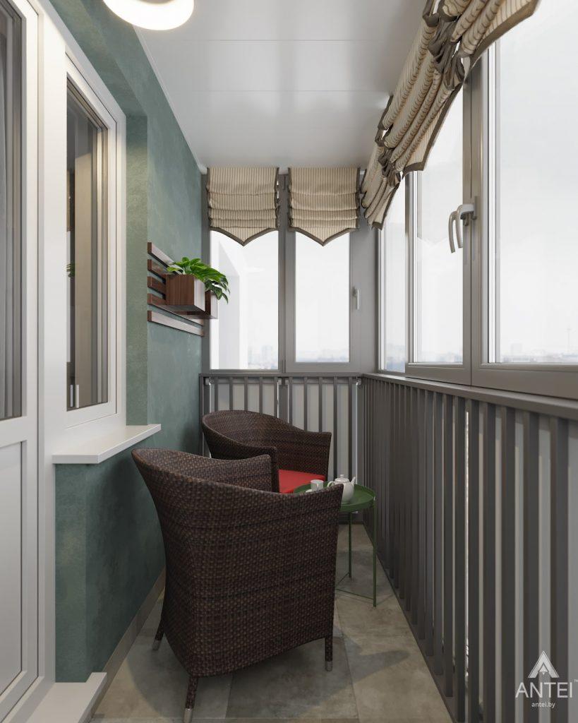 Дизайн интерьера двухкомнатной квартиры в Гомеле, ул. Барыкина - балкон фото №2