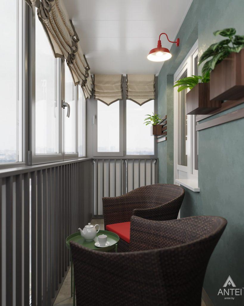 Дизайн интерьера двухкомнатной квартиры в Гомеле, ул. Барыкина - балкон фото №1