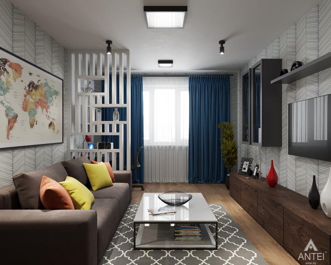 Дизайн интерьера двухкомнатной квартиры в Гомеле, ул. Барыкина - гостиная фото №3