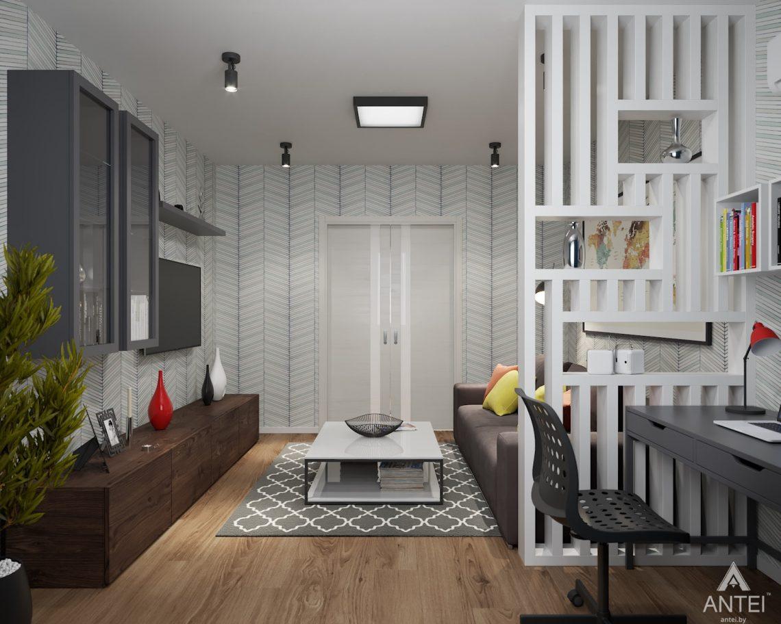 Дизайн интерьера двухкомнатной квартиры в Гомеле, ул. Барыкина - гостиная фото №4