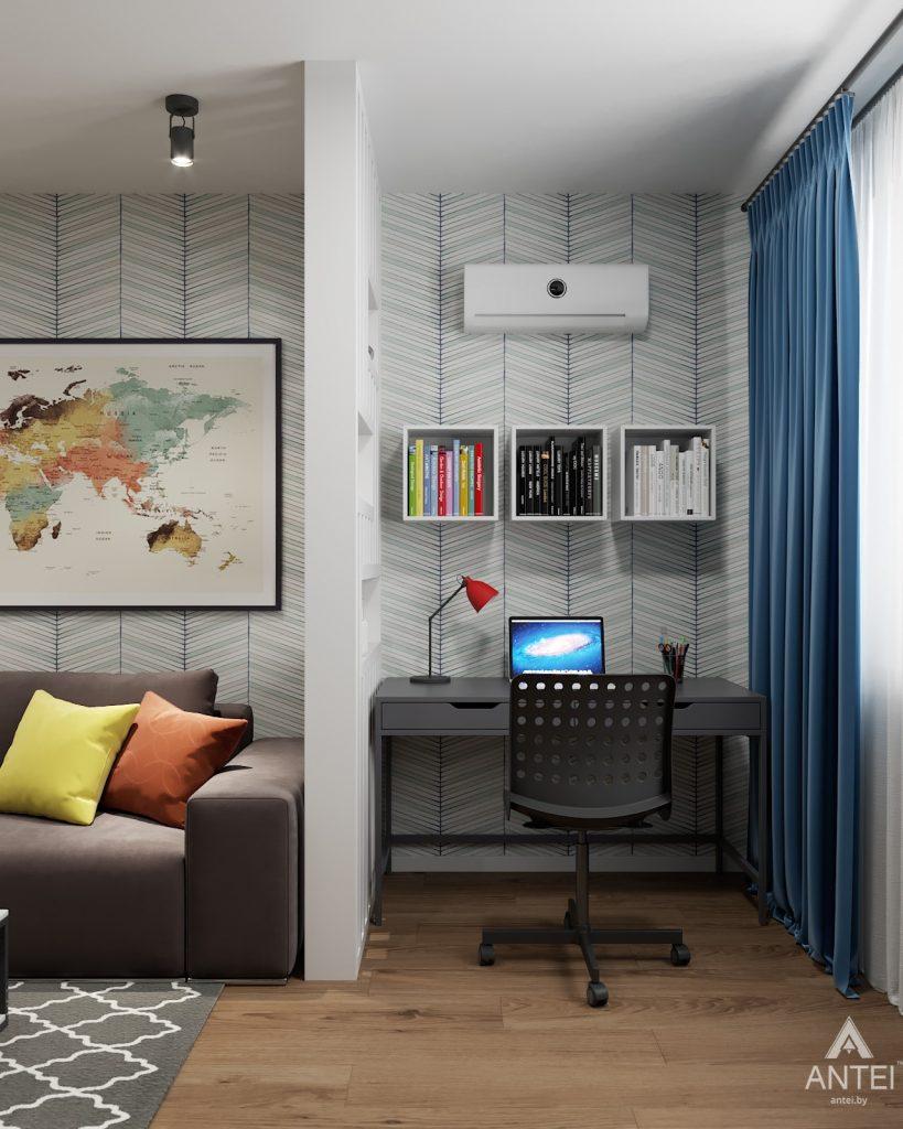 Дизайн интерьера двухкомнатной квартиры в Гомеле, ул. Барыкина - гостиная фото №2