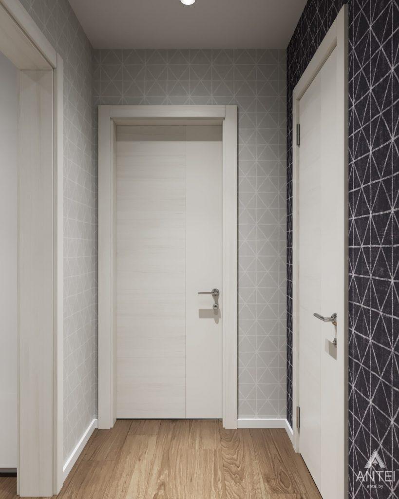 Дизайн интерьера двухкомнатной квартиры в Гомеле, ул. Барыкина - коридор фото №2