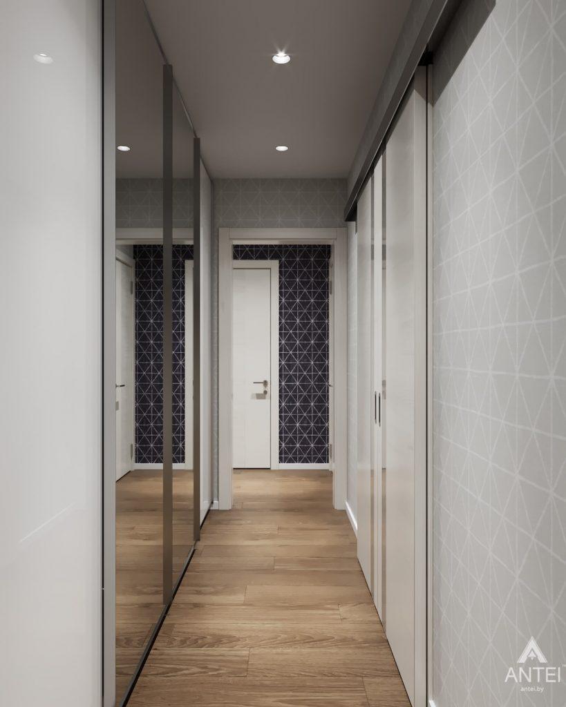 Дизайн интерьера двухкомнатной квартиры в Гомеле, ул. Барыкина - коридор фото №3