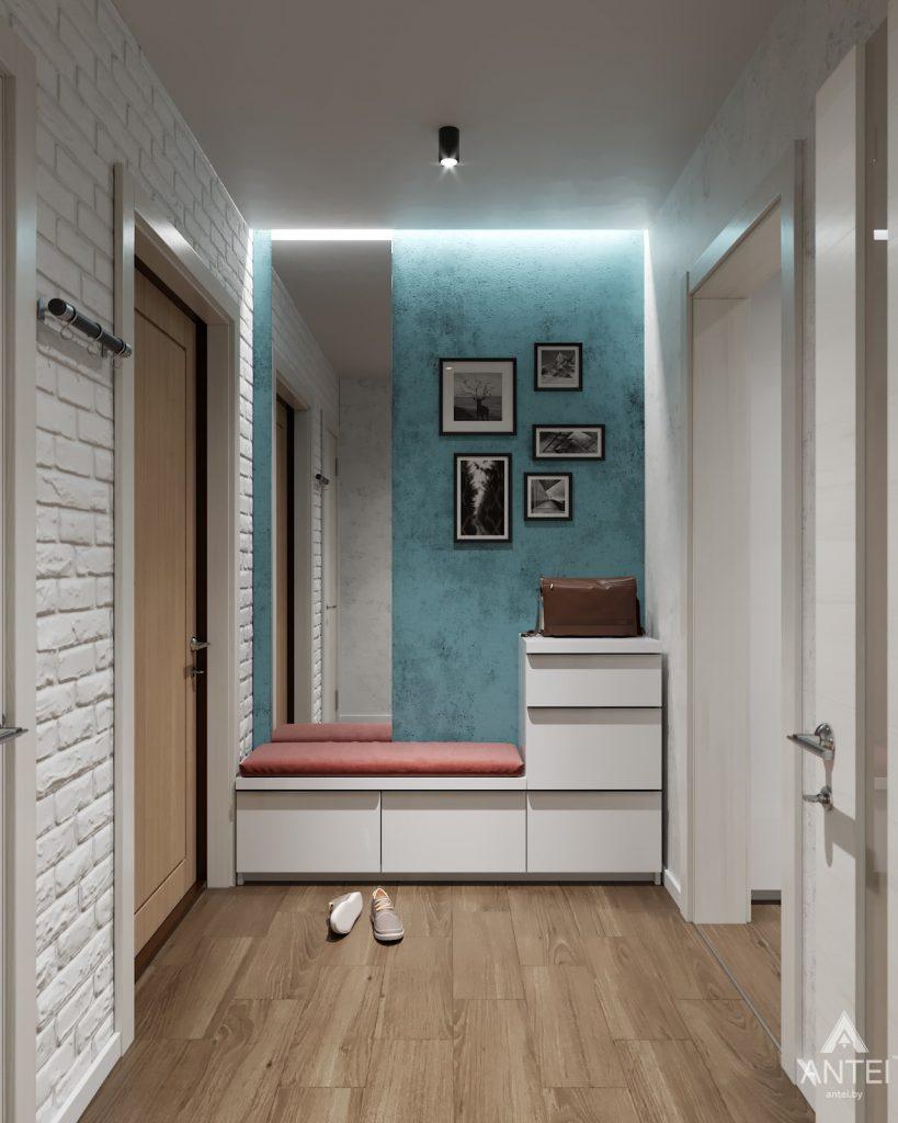 Дизайн интерьера двухкомнатной квартиры в Гомеле, ул. Барыкина - коридор фото №1