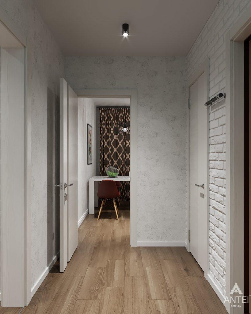 Дизайн интерьера двухкомнатной квартиры в Гомеле, ул. Барыкина - коридор фото №4
