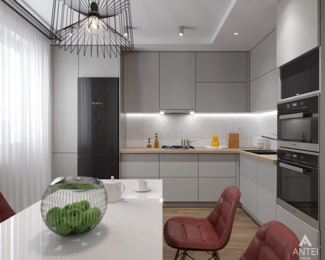 Дизайн интерьера двухкомнатной квартиры в Гомеле, ул. Барыкина - кухня фото №1