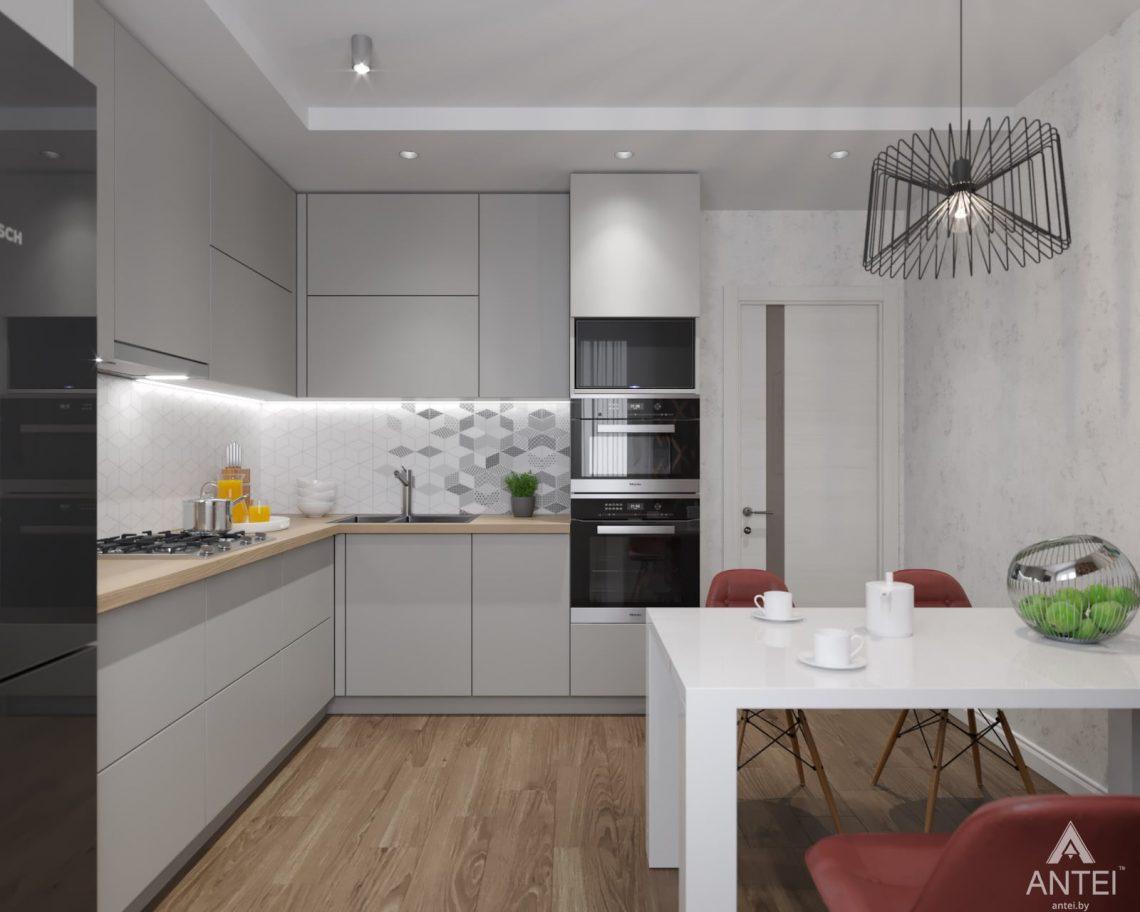 Дизайн интерьера двухкомнатной квартиры в Гомеле, ул. Барыкина - кухня фото №2
