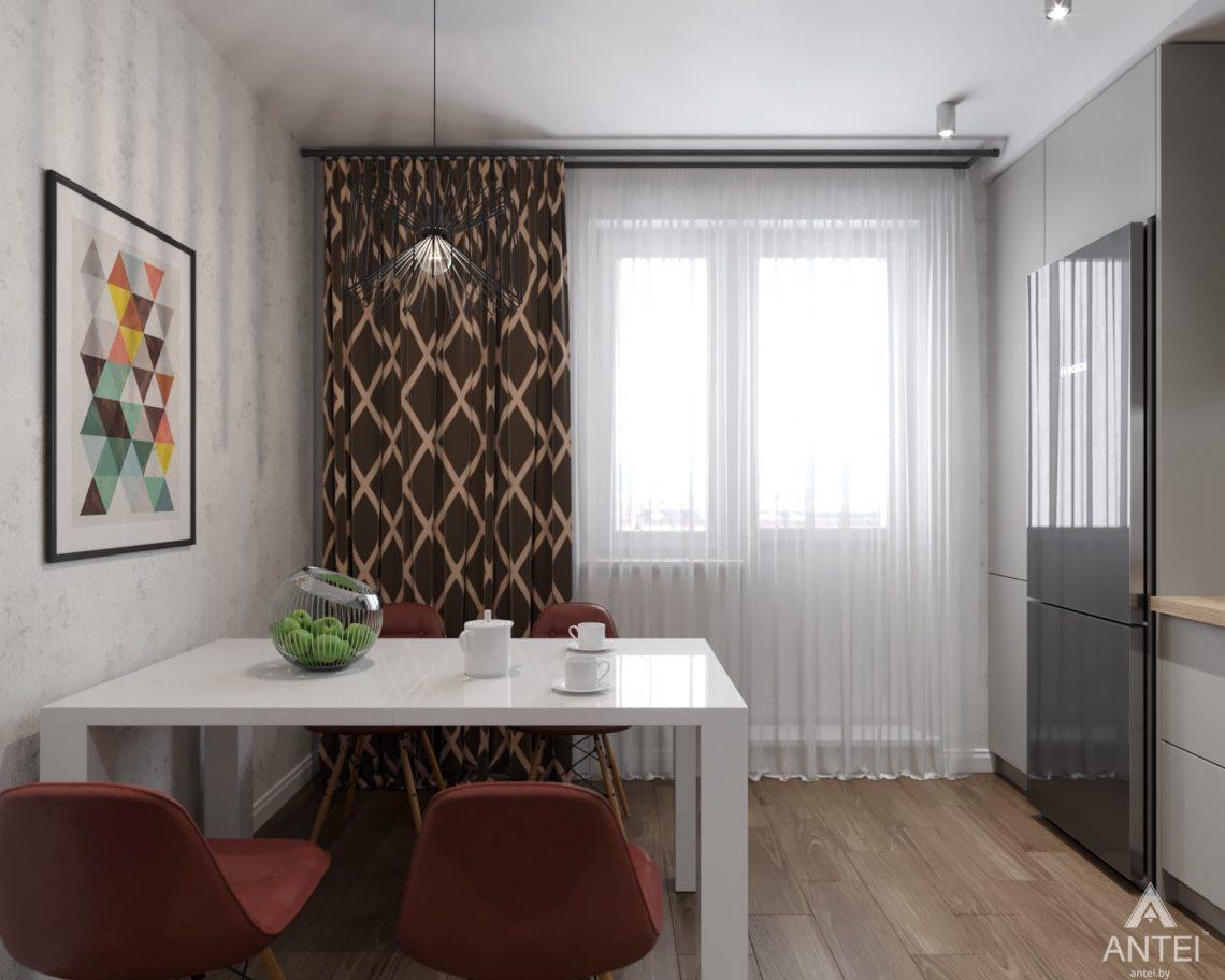 Дизайн интерьера двухкомнатной квартиры в Гомеле, ул. Барыкина - кухня фото №3