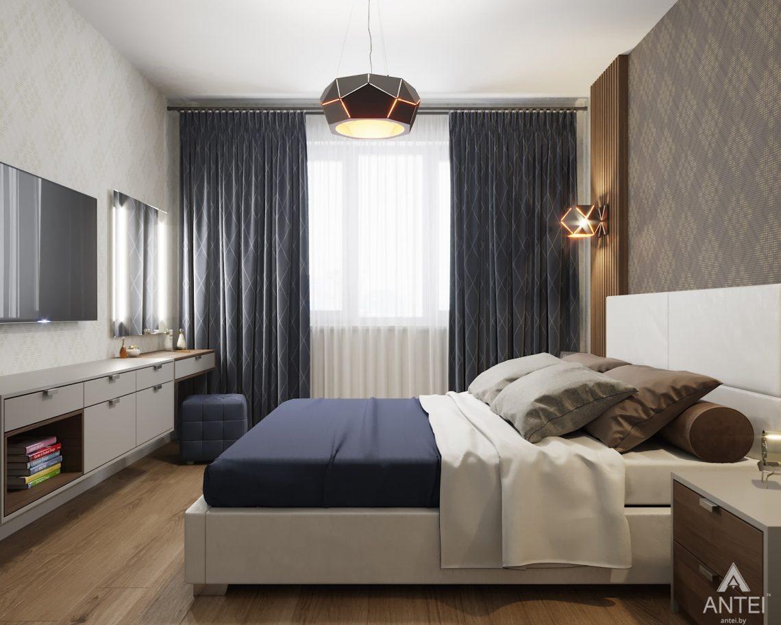 Дизайн интерьера двухкомнатной квартиры в Гомеле, ул. Барыкина - спальня фото №2