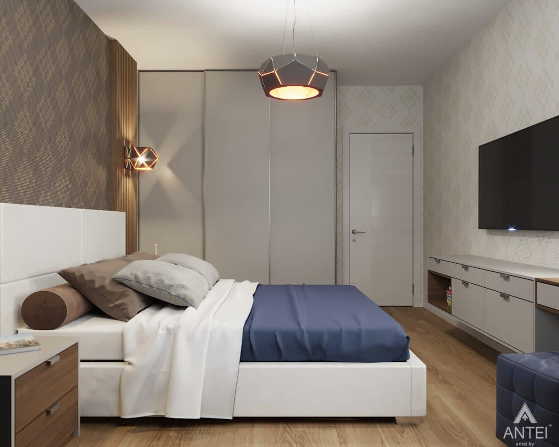 Дизайн интерьера двухкомнатной квартиры в Гомеле, ул. Барыкина - спальня фото №3
