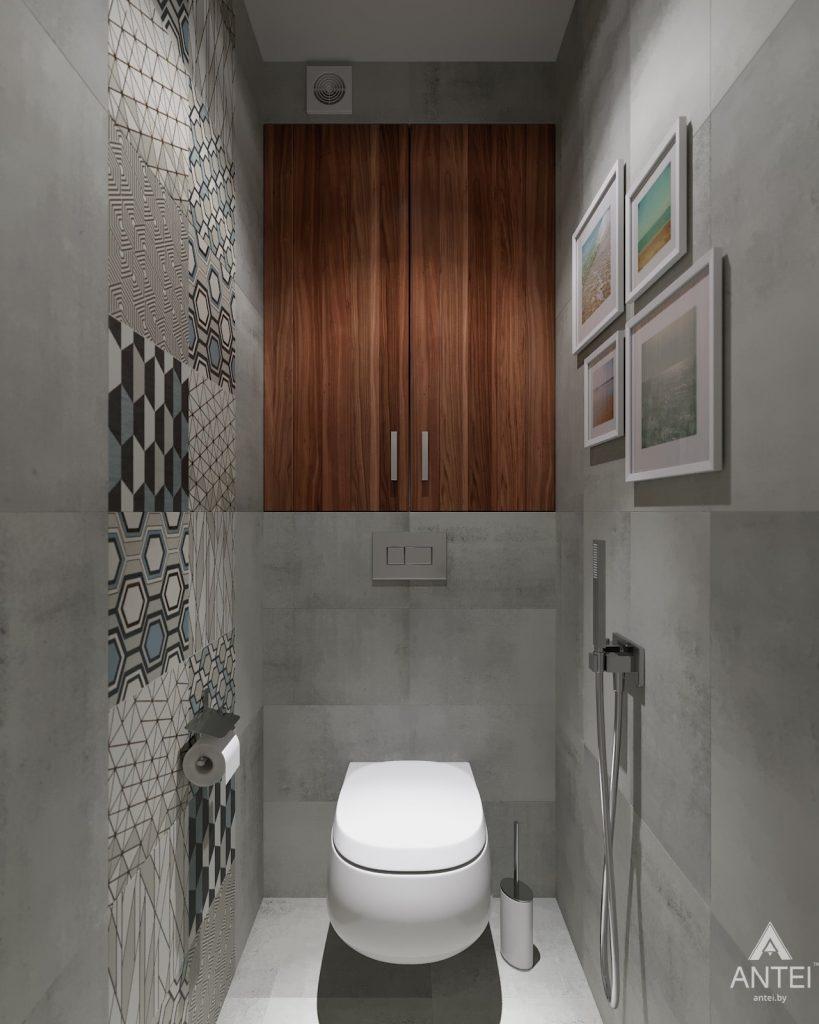 Дизайн интерьера двухкомнатной квартиры в Гомеле, ул. Барыкина - туалет фото №1