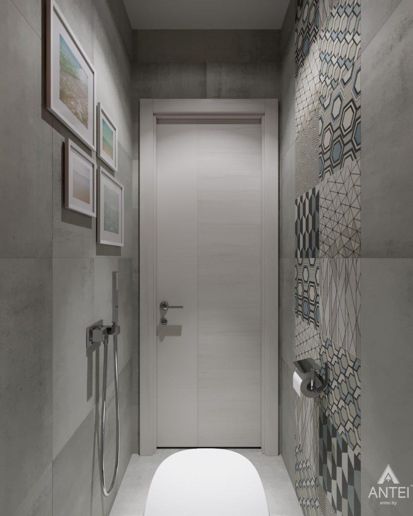 Дизайн интерьера двухкомнатной квартиры в Гомеле, ул. Барыкина - туалет фото №2