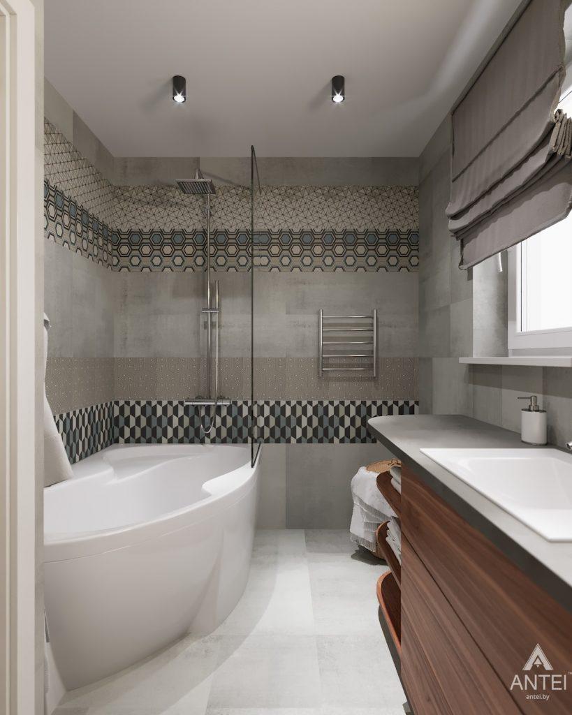 Дизайн интерьера двухкомнатной квартиры в Гомеле, ул. Барыкина - ванная фото №3
