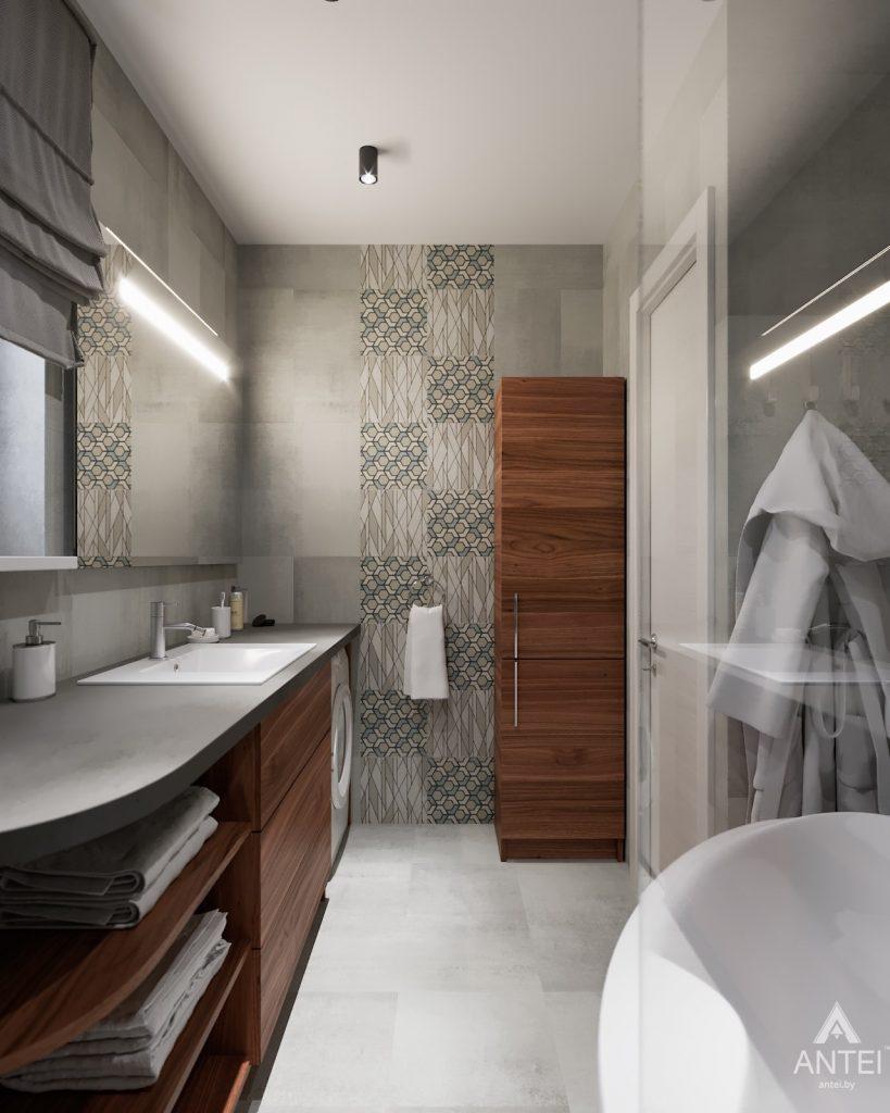 Дизайн интерьера двухкомнатной квартиры в Гомеле, ул. Барыкина - ванная фото №1