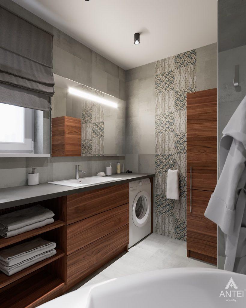 Дизайн интерьера двухкомнатной квартиры в Гомеле, ул. Барыкина - ванная фото №2
