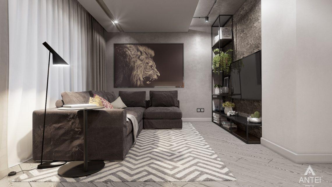 Дизайн интерьера двухкомнатной квартиры в Гомеле, ул. Пионерская - гостиная фото №2