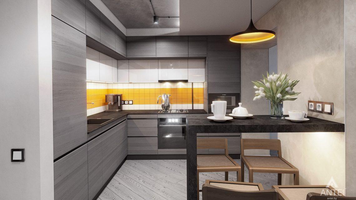 Дизайн интерьера двухкомнатной квартиры в Гомеле, ул. Пионерская - кухня фото №1