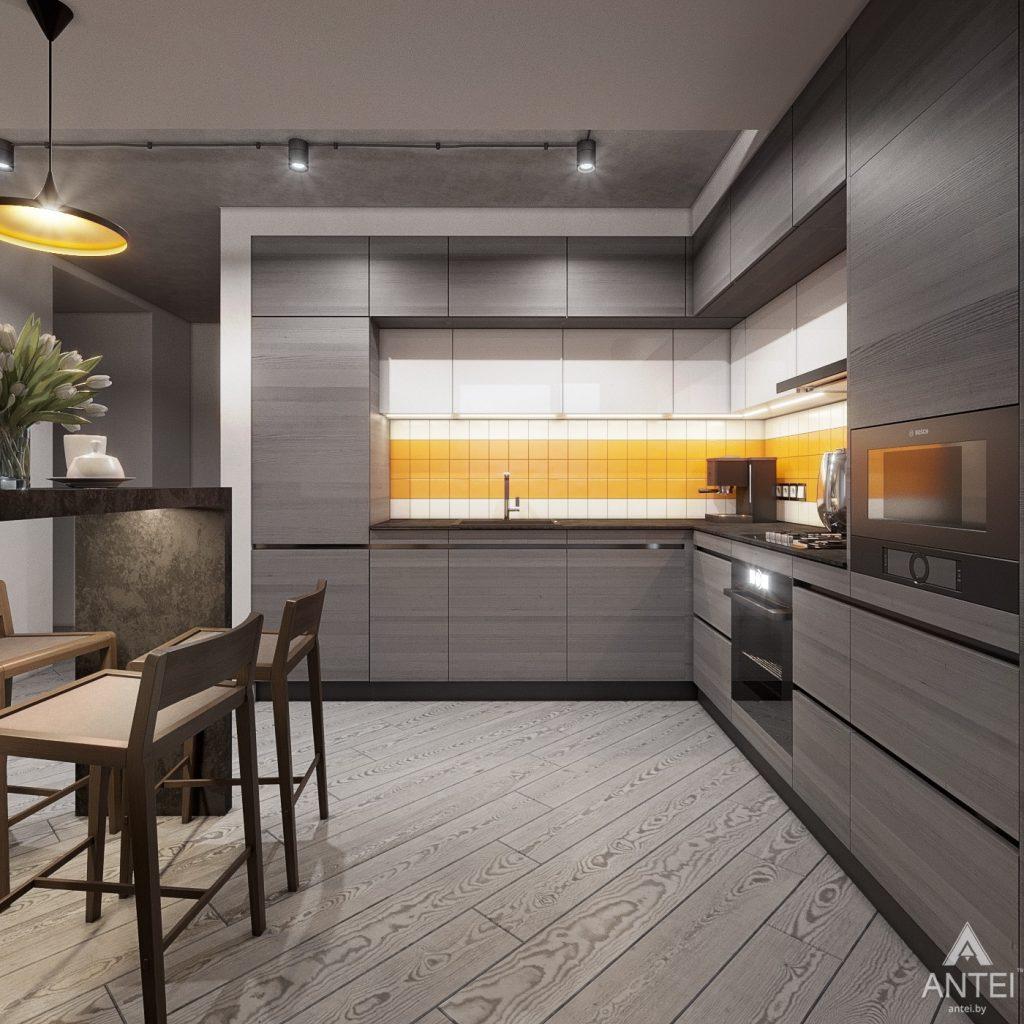 Дизайн интерьера двухкомнатной квартиры в Гомеле, ул. Пионерская - кухня фото №2