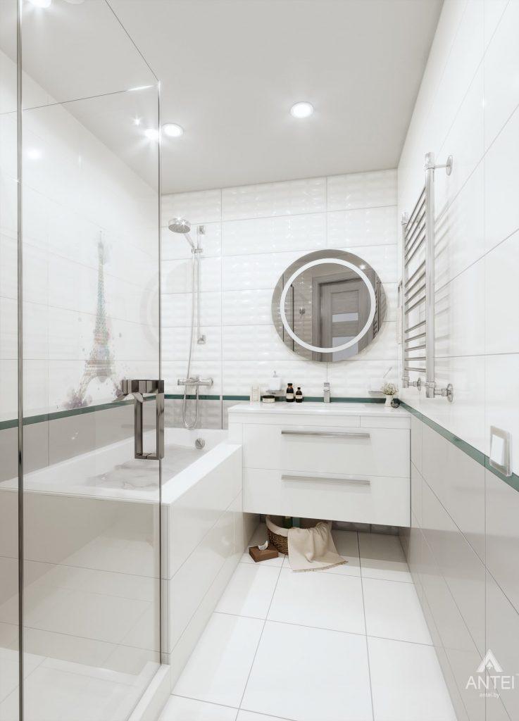 Дизайн интерьера двухкомнатной квартиры в Гомеле, ул. Пионерская - ванная фото №1