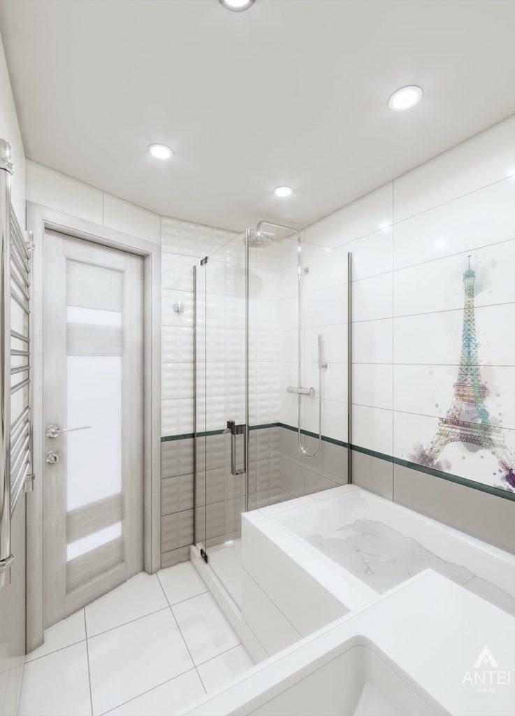 Дизайн интерьера двухкомнатной квартиры в Гомеле, ул. Пионерская - ванная фото №2
