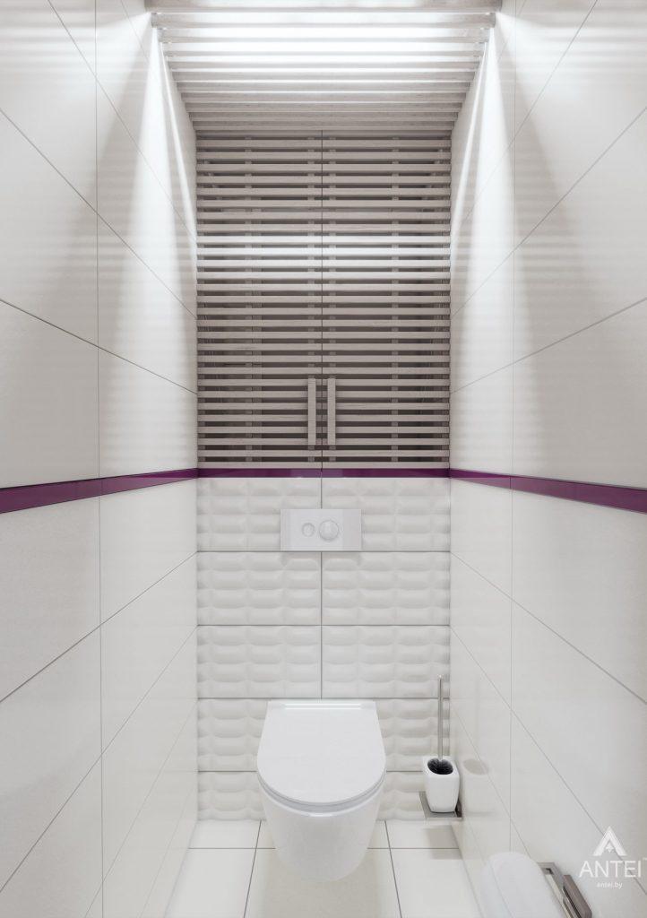 Дизайн интерьера двухкомнатной квартиры в Гомеле, ул. Пионерская - туалет фото №1