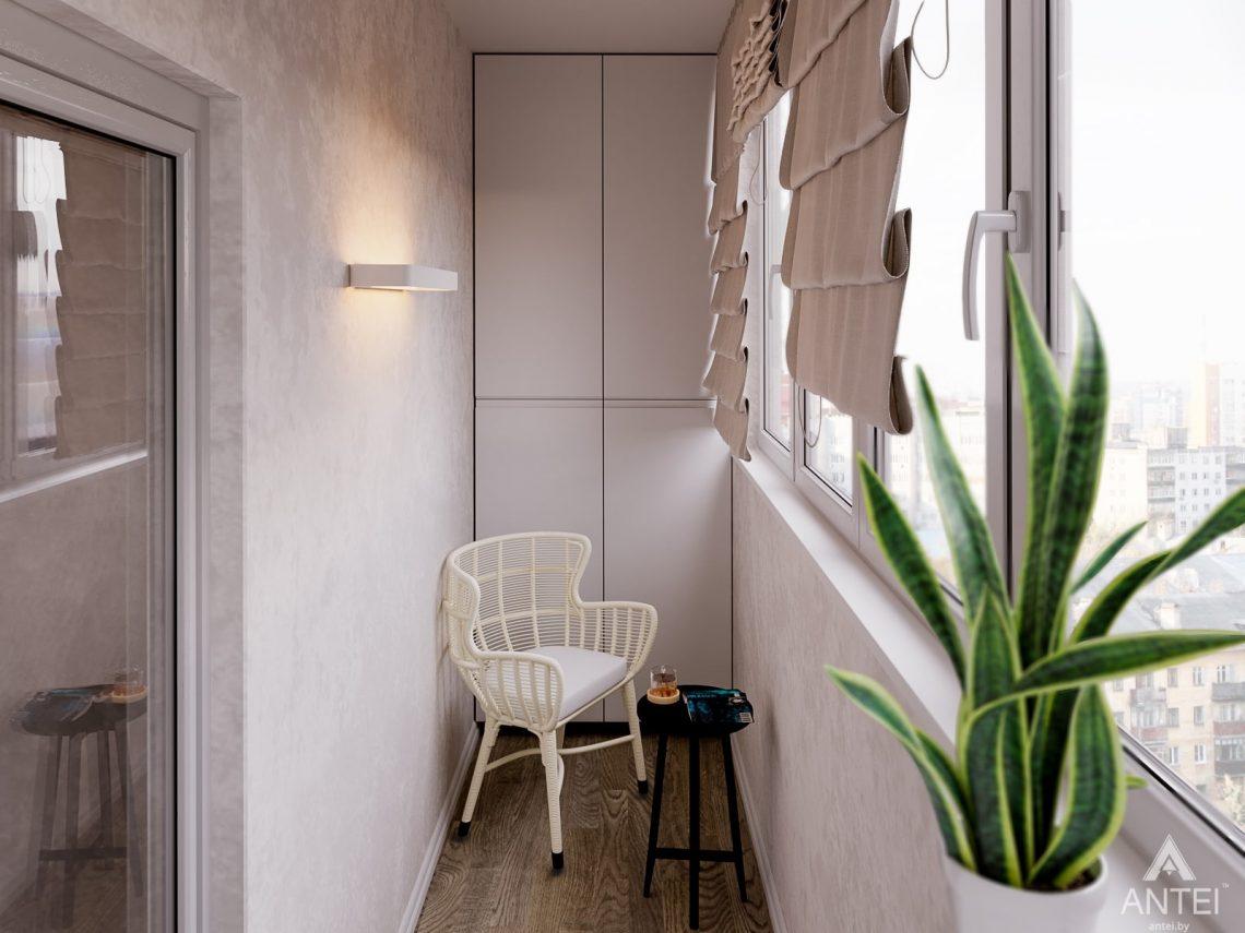 Дизайн интерьера двухкомнатной квартиры в Гомеле, ул. Карла Маркса -балкон фото №2