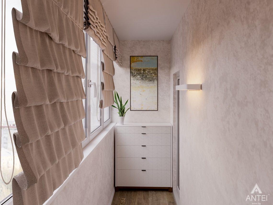 Дизайн интерьера двухкомнатной квартиры в Гомеле, ул. Карла Маркса -балкон фото №1
