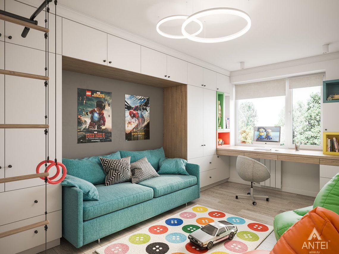 Дизайн интерьера трехкомнатная квартира в Гомеле, ул. Свиридова - детская комната фото №2