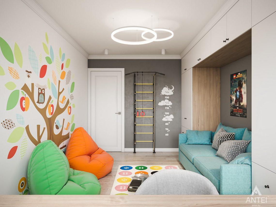 Дизайн интерьера трехкомнатная квартира в Гомеле, ул. Свиридова - детская комната фото №1