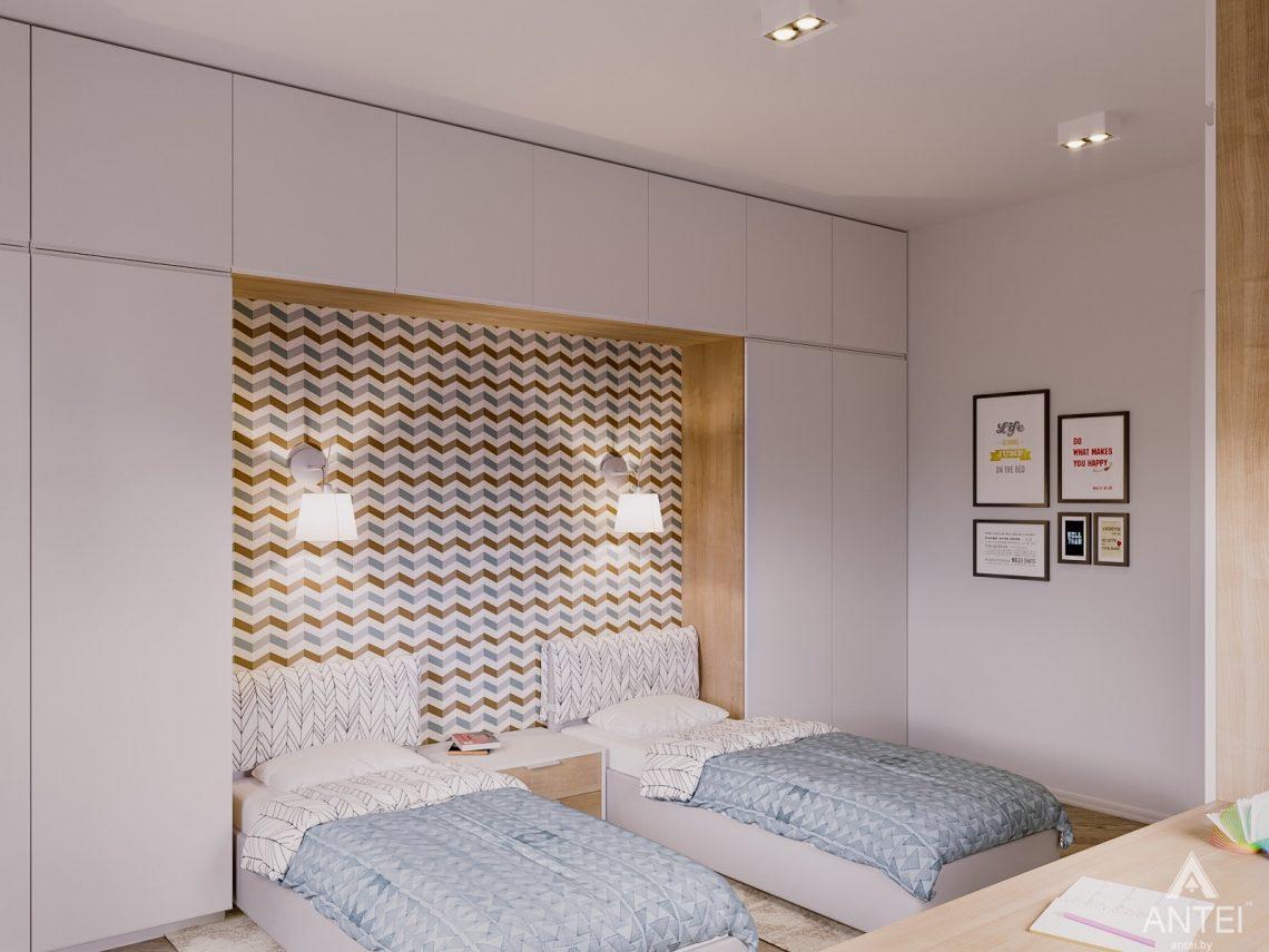 Дизайн интерьера двухкомнатной квартиры в Гомеле, ул. Карла Маркса - детская спальня фото №1