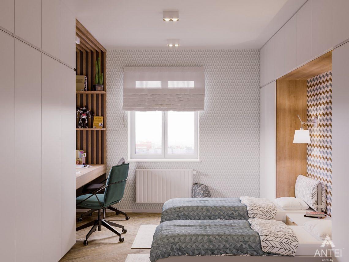 Дизайн интерьера двухкомнатной квартиры в Гомеле, ул. Карла Маркса - детская спальня фото №2