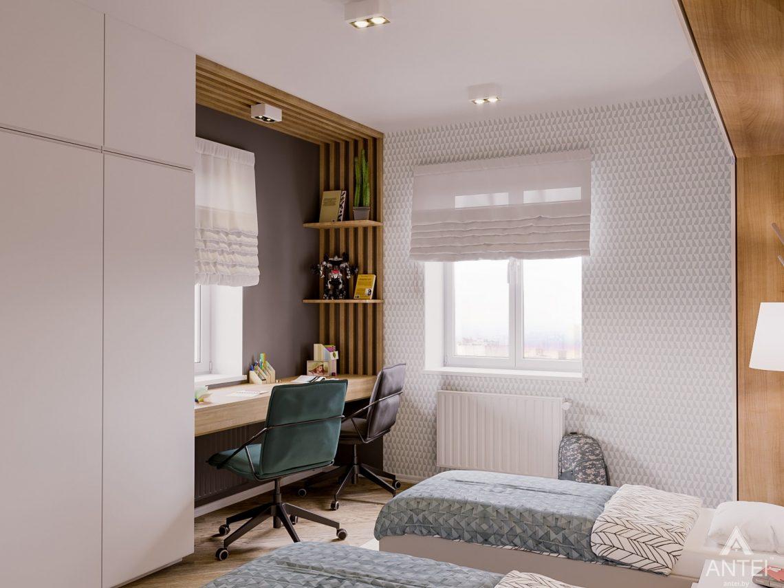 Дизайн интерьера двухкомнатной квартиры в Гомеле, ул. Карла Маркса - детская спальня фото №4