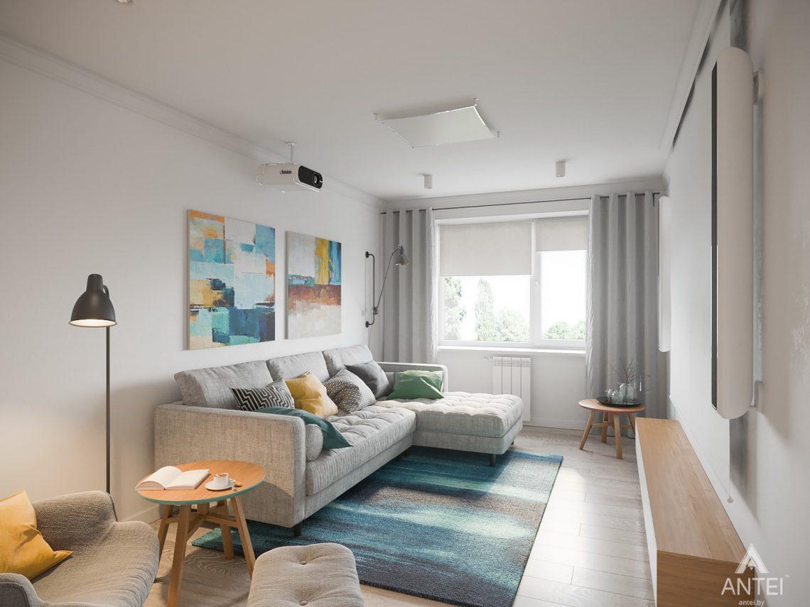 Дизайн интерьера трехкомнатная квартира в Гомеле, ул. Свиридова - гостиная фото №1