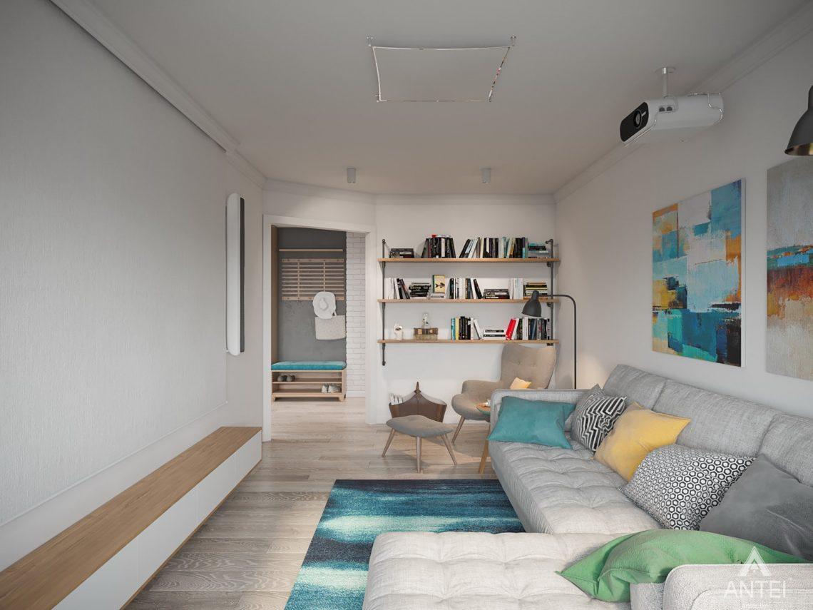 Дизайн интерьера трехкомнатная квартира в Гомеле, ул. Свиридова - гостиная фото №2