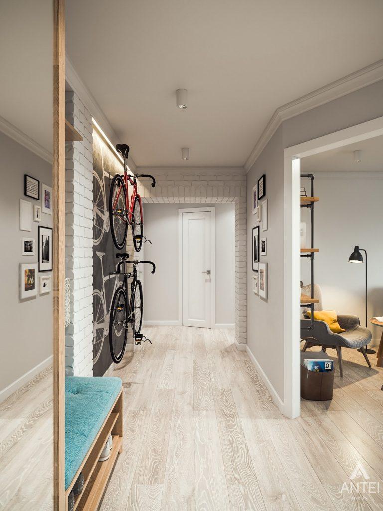 Дизайн интерьера трехкомнатная квартира в Гомеле, ул. Свиридова - прихожая фото №2