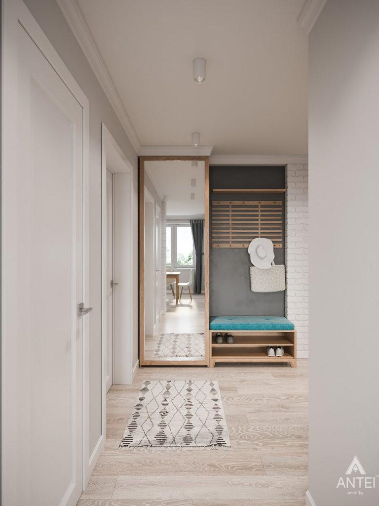 Дизайн интерьера трехкомнатная квартира в Гомеле, ул. Свиридова - прихожая фото №1