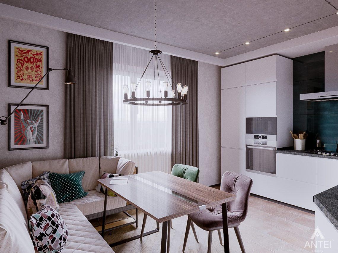 Дизайн интерьера двухкомнатной квартиры в Гомеле, ул. Карла Маркса - кухня фото №2