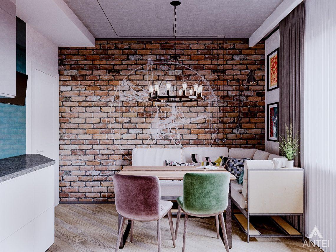 Дизайн интерьера двухкомнатной квартиры в Гомеле, ул. Карла Маркса - кухня фото №3