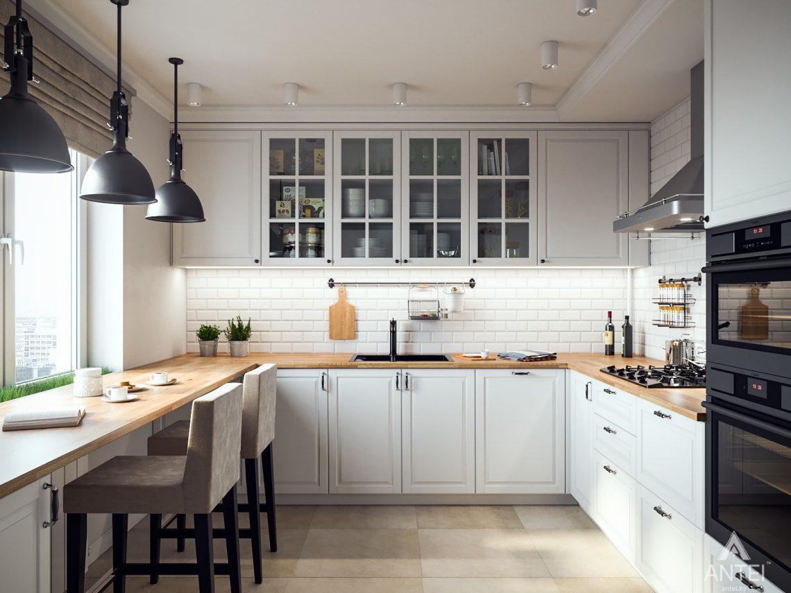 Дизайн интерьера трехкомнатная квартира в Гомеле, ул. Свиридова - кухня фото №1