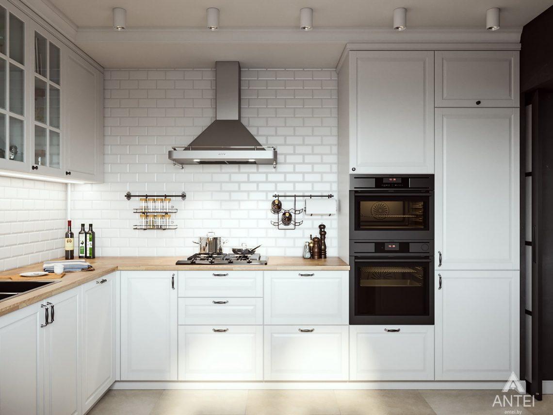 Дизайн интерьера трехкомнатная квартира в Гомеле, ул. Свиридова - кухня фото №2