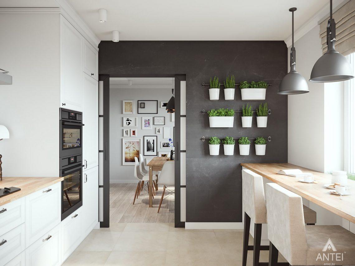 Дизайн интерьера трехкомнатная квартира в Гомеле, ул. Свиридова - кухня фото №3