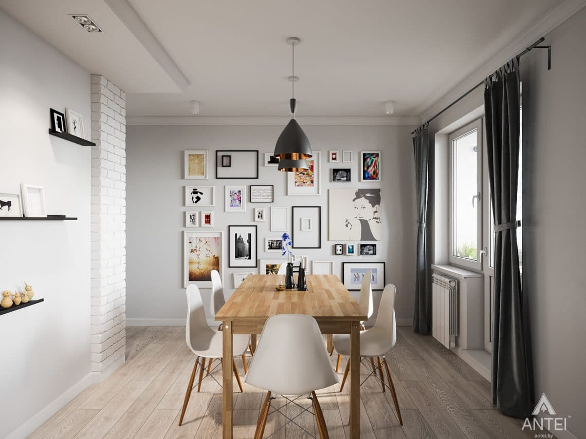 Дизайн интерьера трехкомнатная квартира в Гомеле, ул. Свиридова - кухня фото №5