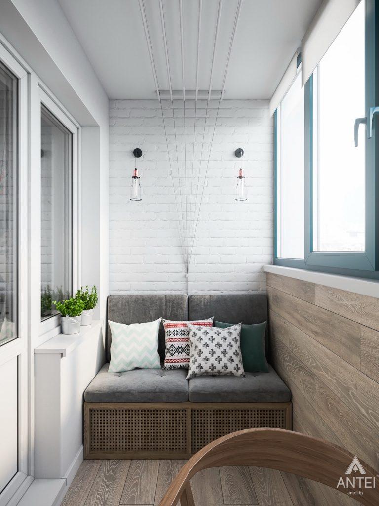 Дизайн интерьера трехкомнатная квартира в Гомеле, ул. Свиридова - лоджия фото №2