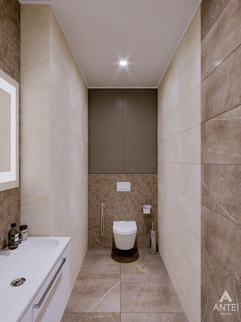 Дизайн интерьера двухкомнатной квартиры в Гомеле, ул. Карла Маркса - санузел фото №2