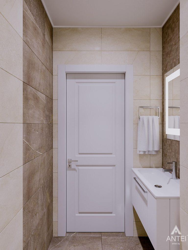Дизайн интерьера двухкомнатной квартиры в Гомеле, ул. Карла Маркса - санузел фото №1